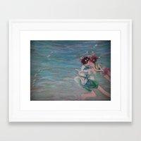 chihiro Framed Art Prints featuring Chihiro & Haku by Plumrosefern