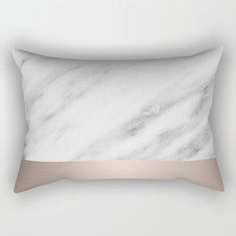 Carrara Italian Marble Holiday White Gold Edition Rectangular Pillow