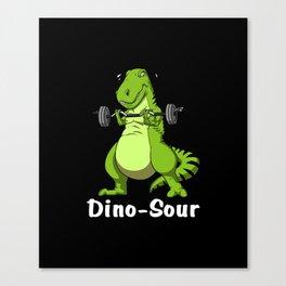 Fitness T-Rex Dinosaur Gym Workout Canvas Print