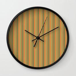 FALL STRIPE Wall Clock