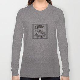 Zentangle S Monogram Alphabet Initials Long Sleeve T-shirt