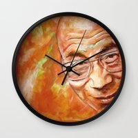 lama Wall Clocks featuring Dalai Lama by ARTito