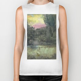 Pond Color Study no.2 Biker Tank