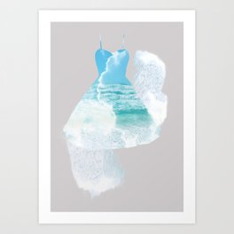 Dancing sea Art Print