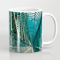 montreal Mugs featuring Montreal | Bridge by Simon Laroche