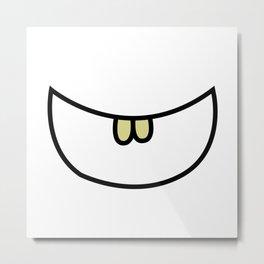 Smile 2 Two teeth  Metal Print
