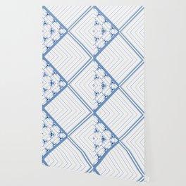 Decorative Multi Pattern Soft Blue Design Wallpaper