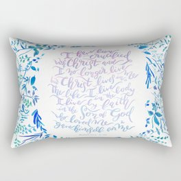 Christ lives in Me - Galatians 2:20 Rectangular Pillow
