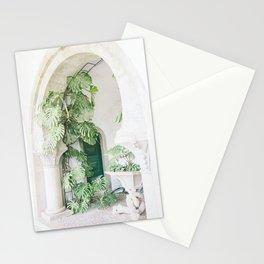 monstera print, botanical print, plant, portugal print, sintra print, minimalist print, plant print Stationery Cards