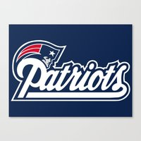 patriots Canvas Prints featuring Patriots Logo  by Happy Positivity