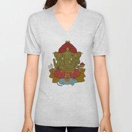 Shri Ganesha Unisex V-Neck