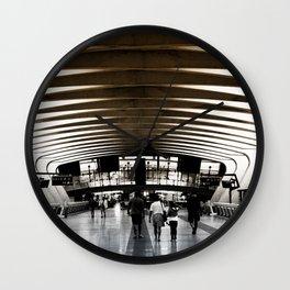 Lyon airport walkway Wall Clock