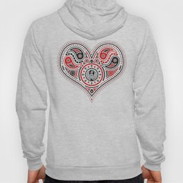 83 Drops - Hearts (Red & Black) Hoody