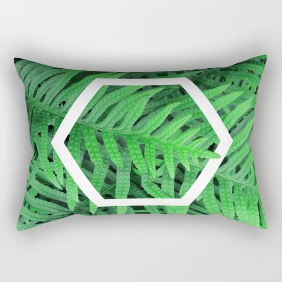 Exagon into the ferns Rectangular Pillow
