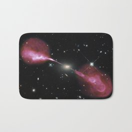 Galaxy Hercules A centered by Massive Black Hole Telescopic Photograph Bath Mat