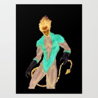 nightcrawler Art Prints featuring NIGHTCRAWLER by MattCridland