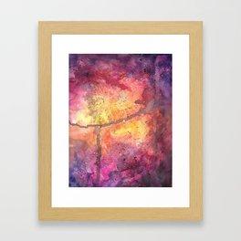 Cosmos in Warm Framed Art Print
