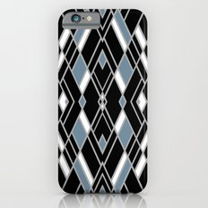 Art Deco Zoom Blue iPhone 6s Slim Case
