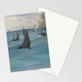 Édouard Manet - Steamboat Leaving Boulogne Stationery Cards