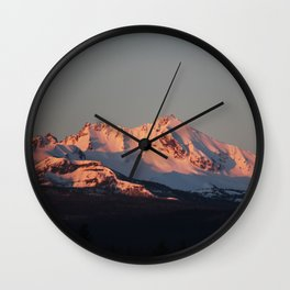 Alpenglow Wall Clock
