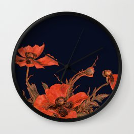 All the Poppies of the Fields Wall Clock