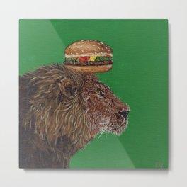 Lion Burger, the BurgerKING Metal Print
