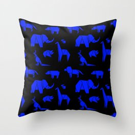 The Animals Come Marching One by One Throw Pillow