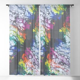 Break Free - Rainbow Rift Sheer Curtain
