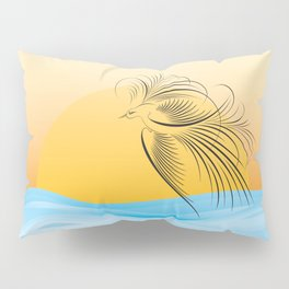 Flying bird - calligraphy Pillow Sham
