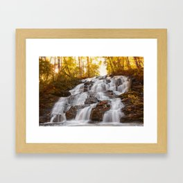 Falls On Wolf Creek, GA Framed Art Print