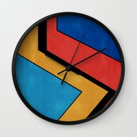 road Wall Clocks featuring Road by Liall Linz