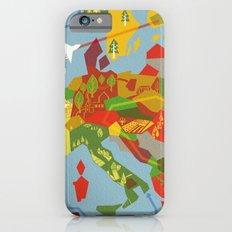 Abstract European Travel Map Slim Case iPhone 6s
