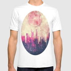 Mysterious city Mens Fitted Tee MEDIUM White