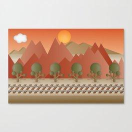 Mountain Railway Canvas Print