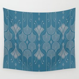 Art Deco Botanical Shapes Wall Tapestry