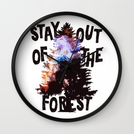 Murderino - Stay Out Of The Forest! Wall Clock