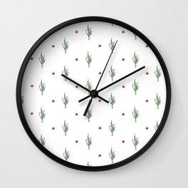 Watercolor Cactus & Floral Pattern Wall Clock