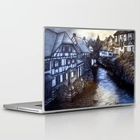 irish Laptop & iPad Skins featuring Irish Village by Tom Gregory Artwork
