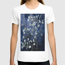 Vincent Van Gogh Almond Blossoms Dark Blue T-shirt