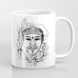 the mask (black and white version) Coffee Mug