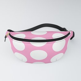 White circles on pink Fanny Pack
