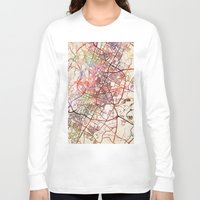 austin Long Sleeve T-shirts featuring Austin by MapMapMaps.Watercolors