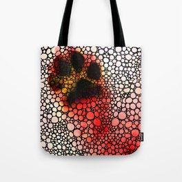 I Paw You - Stone Rock'd Dog Art By Sharon Cummings Tote Bag