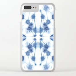 Mirror Dye Blue Clear iPhone Case