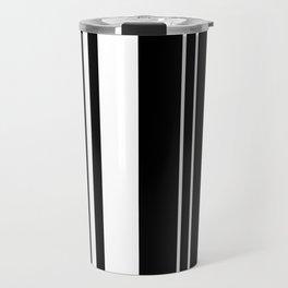 Minimalist Era - Black & White Stripe Asymmetrical Travel Mug