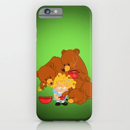Goldilocks and the Three Bears iPhone Case