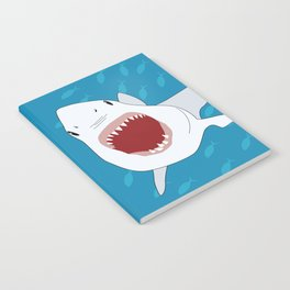 Shark Attack Underwater With Fish Swimming In The Background Notebook