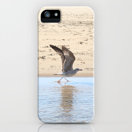 Seagull bird taking off iPhone Case