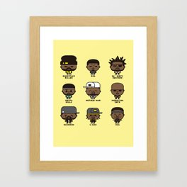 WU-TANG KILLER CHIBIS Framed Art Print