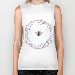 Lavender Bee Biker Tank